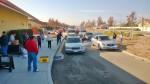 Cars queuing