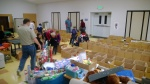 Cub Scout Pack 152 helping in the food sort
