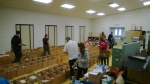 300 boxes sequenced across the floor at Almond Grove Elementary